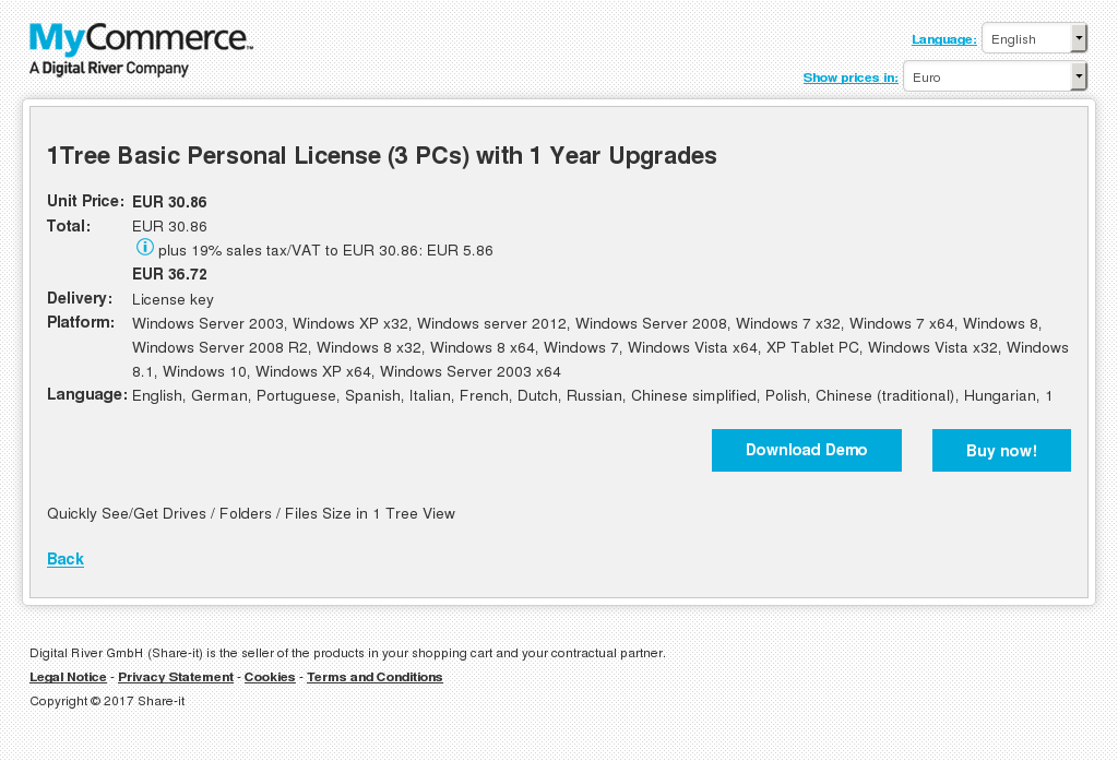 Tree Basic Personal License Pcs With Year Upgrades Download