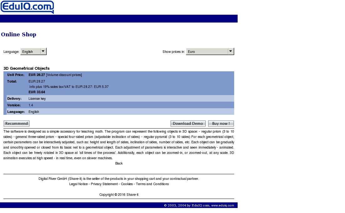 Geometrical Objects Site License Download