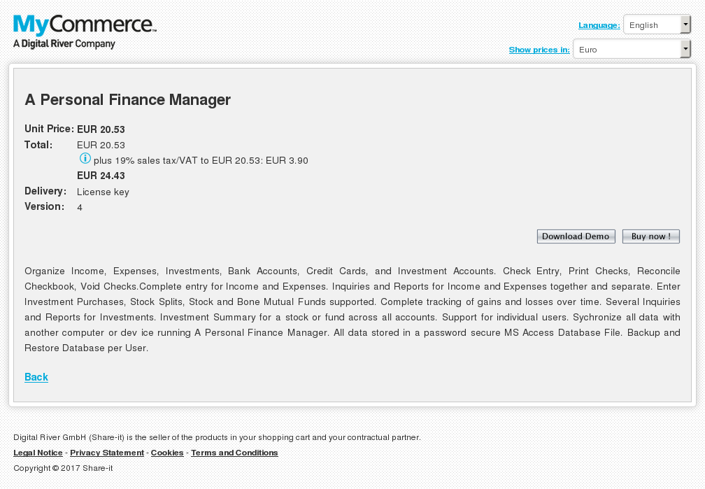 Personal Finance Manager Features