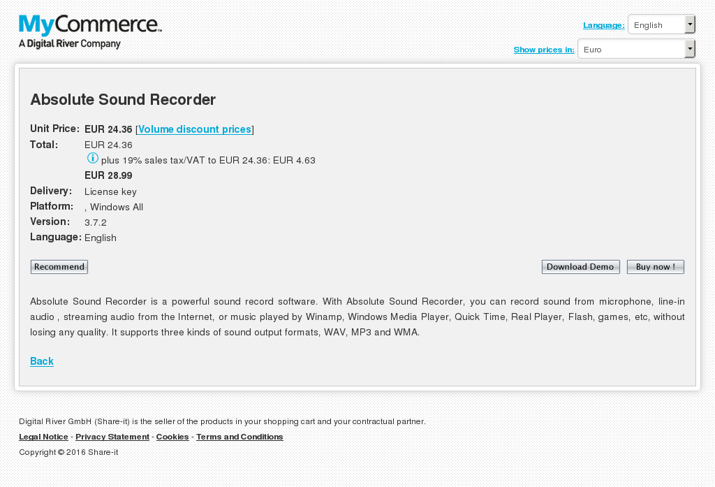 Absolute Sound Recorder Download