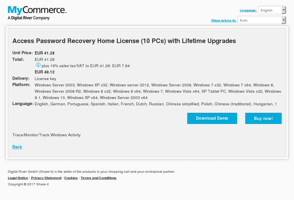 Access Password Recovery Home License Pcs With Lifetime Upgrades Key Information