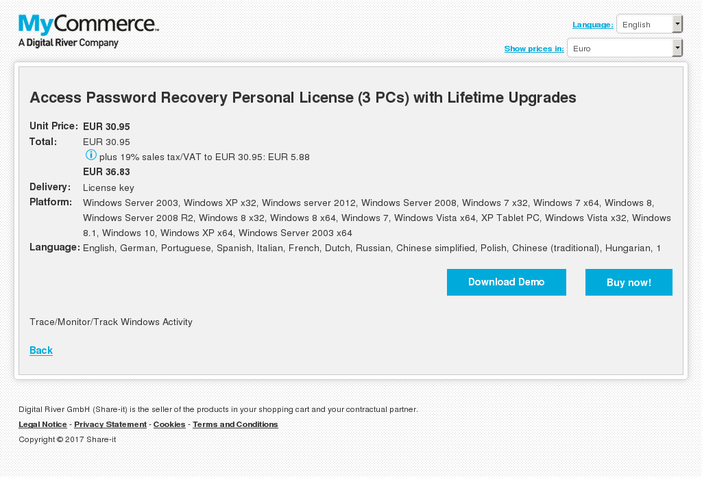 Access Password Recovery Personal License Pcs With Lifetime Upgrades Howto