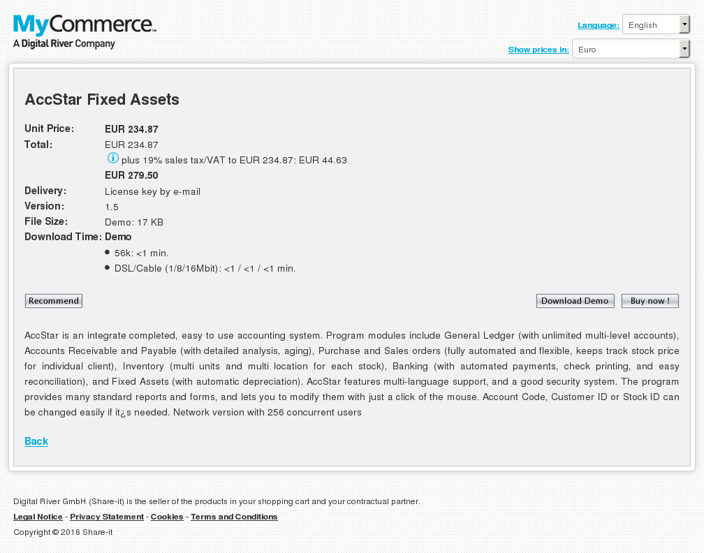 Accstar Fixed Assets Features