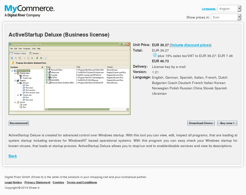 Activestartup Deluxe Business License Free