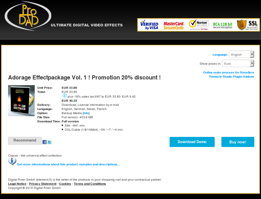 Adorage Effectpackage Vol Promotion Discount Review