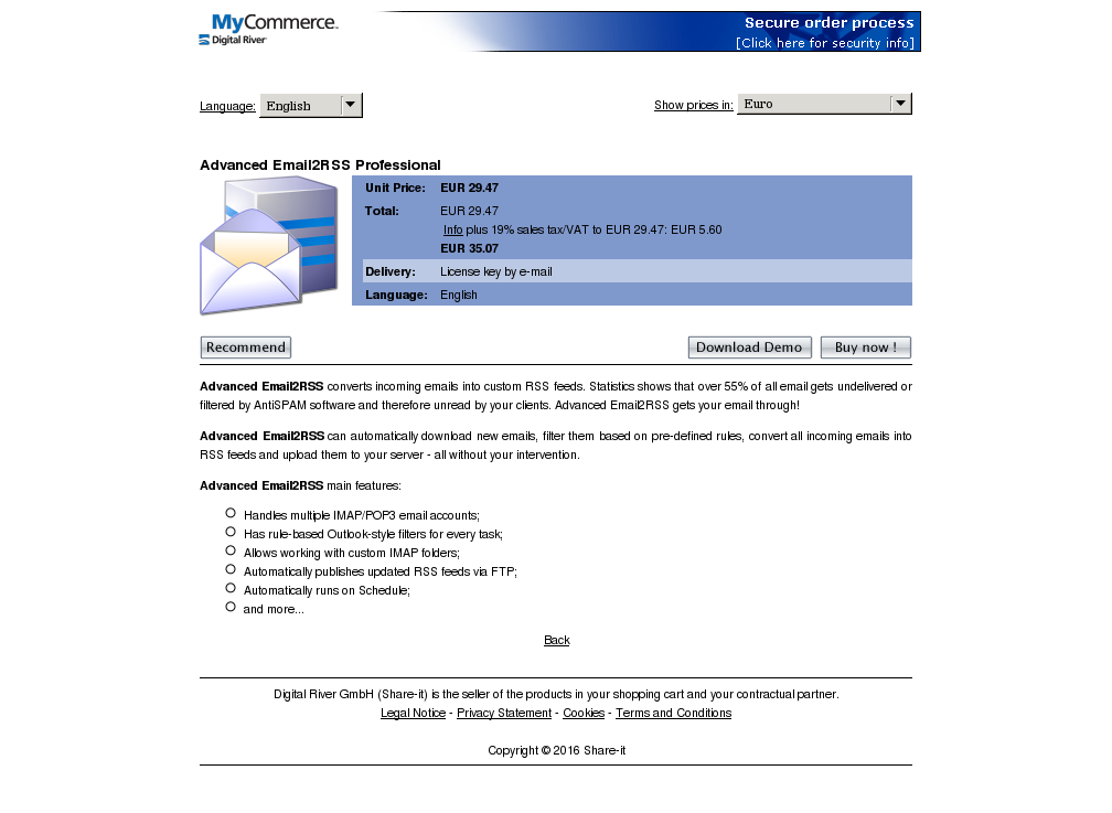 Advanced Emailrss Professional Download