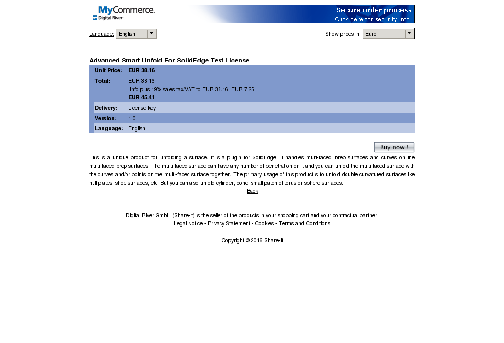 Advanced Smart Unfold Solidedge Test License Download