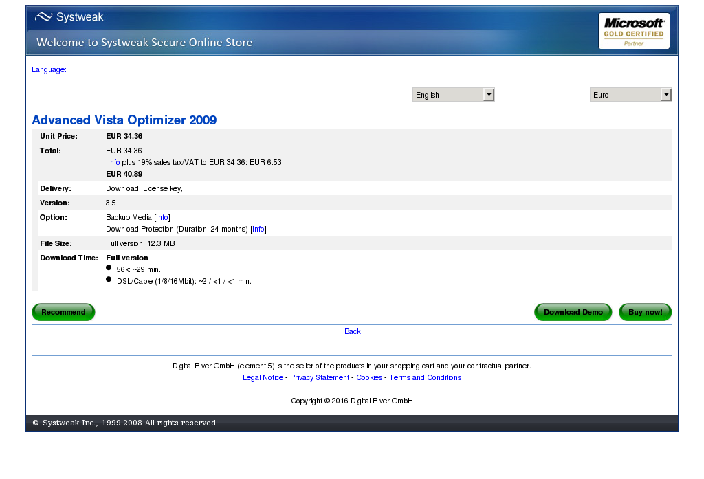 Advanced Vista Optimizer Review