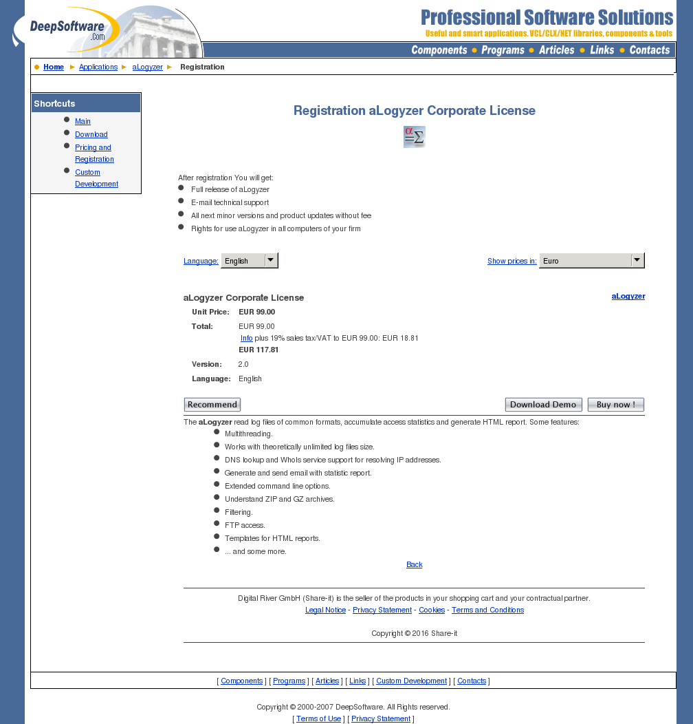 Alogyzer Corporate License Free