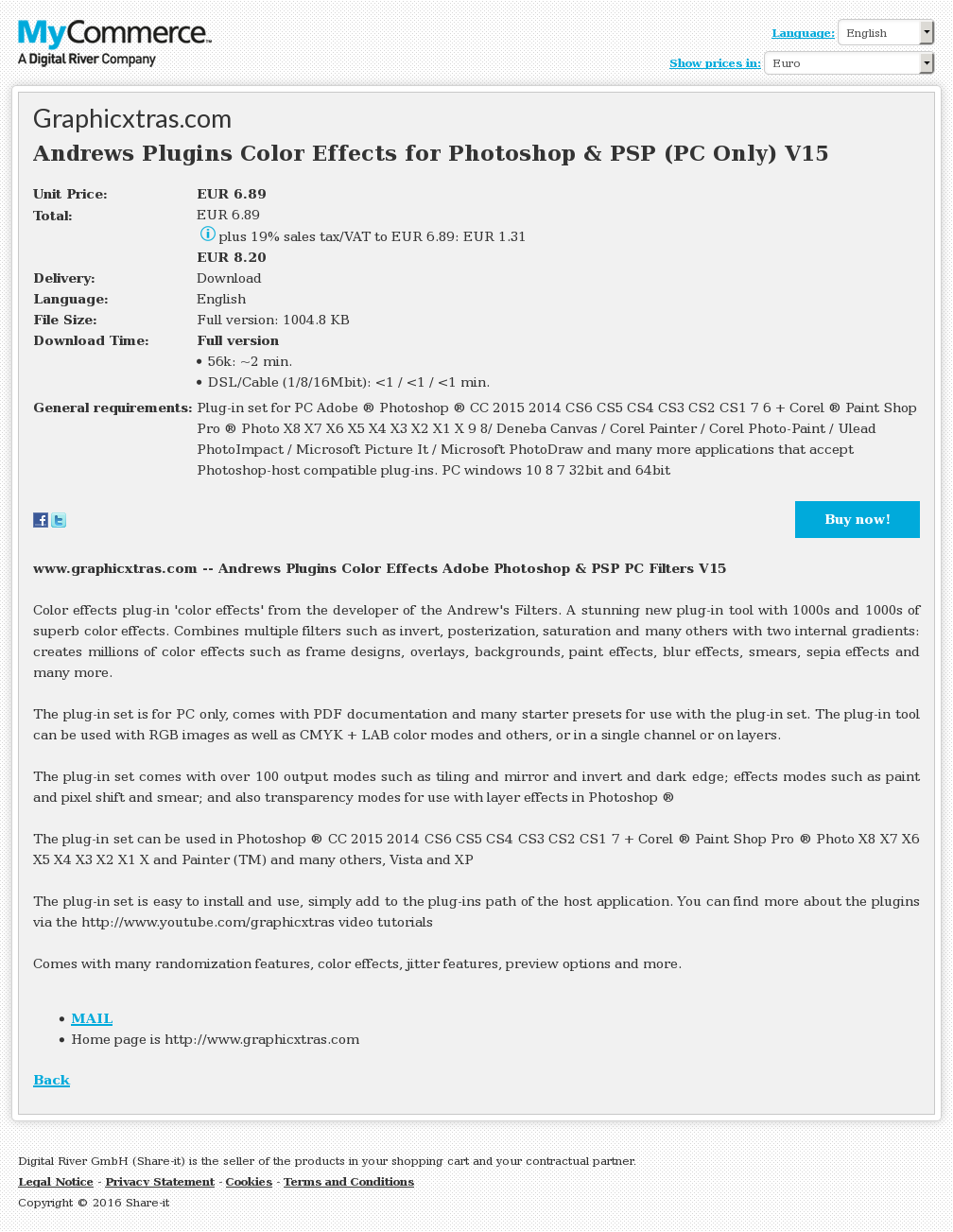 Andrews Plugins Color Effects Photoshop Psp Only Review