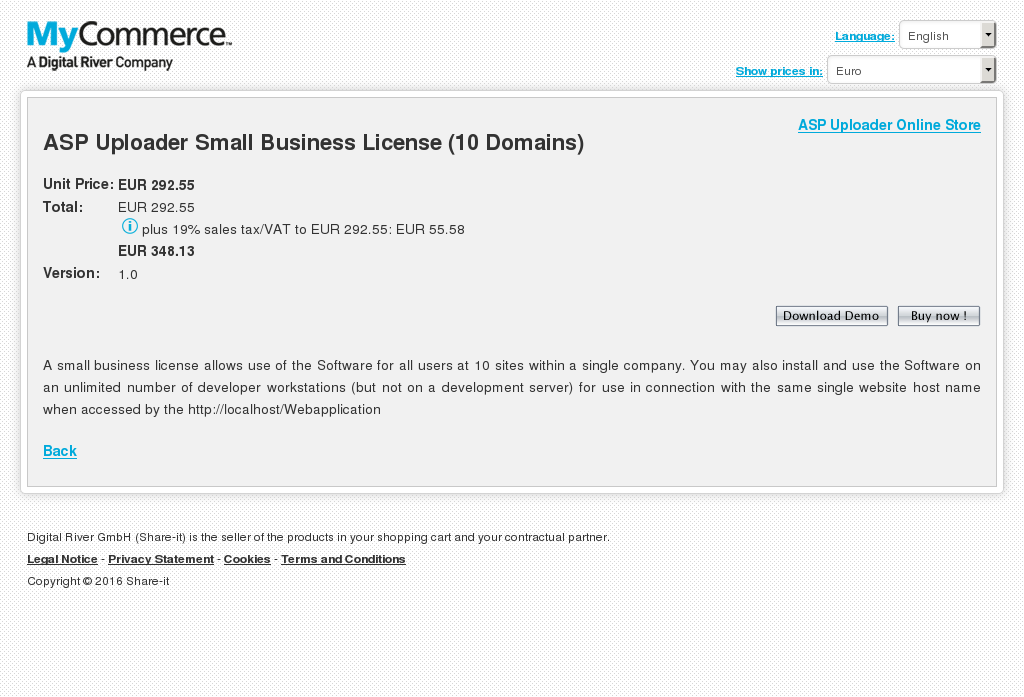 Asp Uploader Small Business License Domains Review