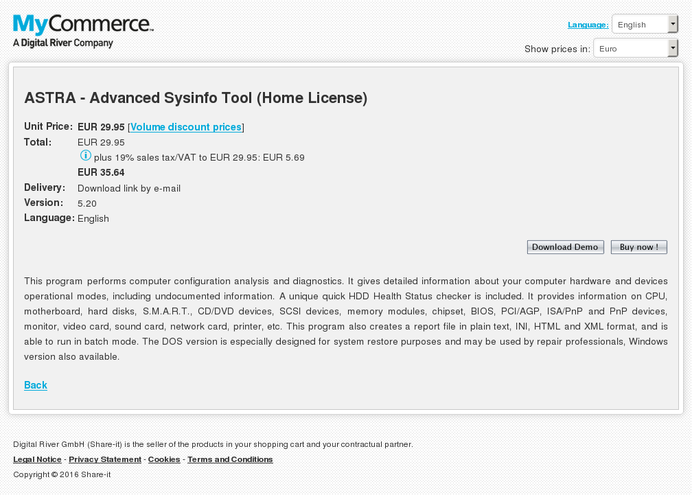 Astra Advanced Sysinfo Tool Home License Free