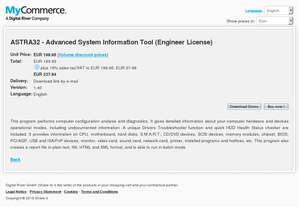 Astra Advanced System Information Tool Engineer License Key