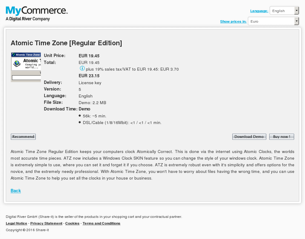 Atomic Time Zone Regular Licenses Review