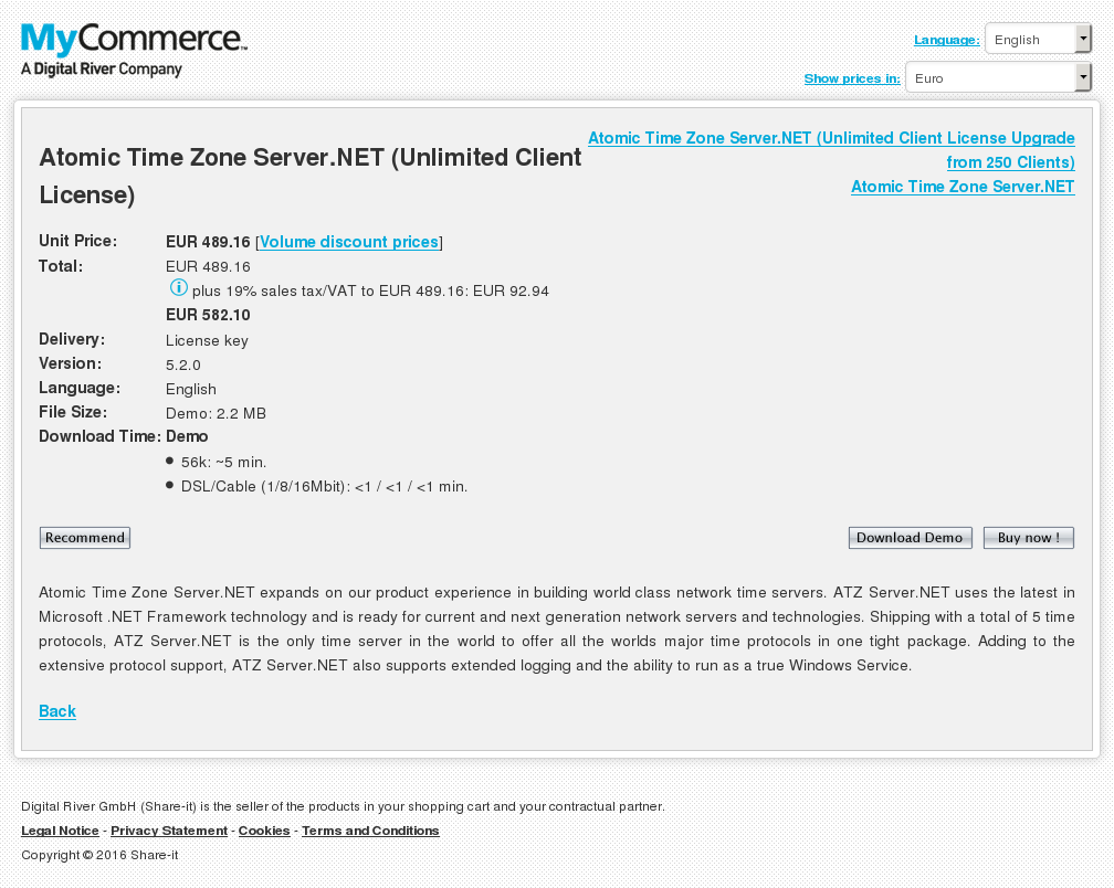 Atomic Time Zone Server Net Unlimited Client License Download