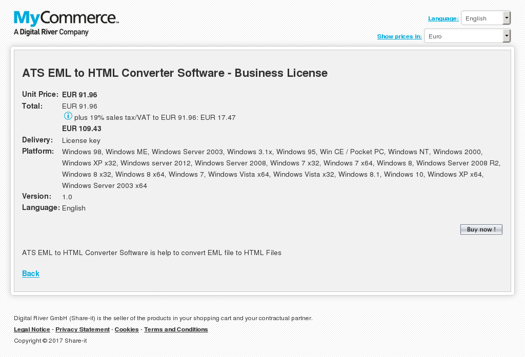 Ats Eml Html Converter Software Business License Features