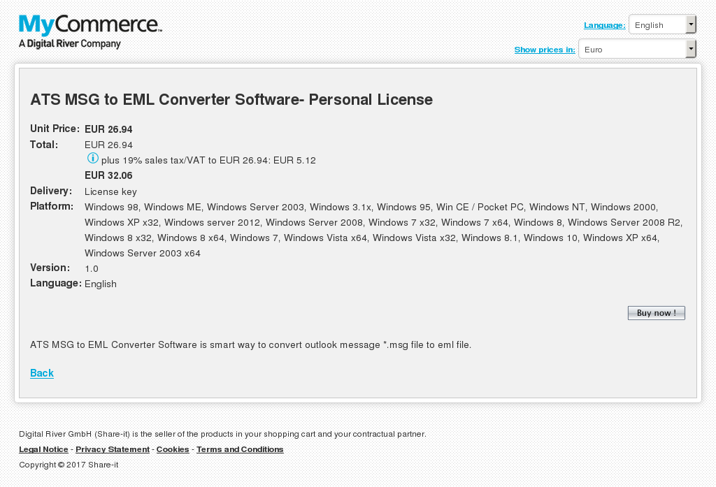 Ats Msg Eml Converter Software Personal License Download