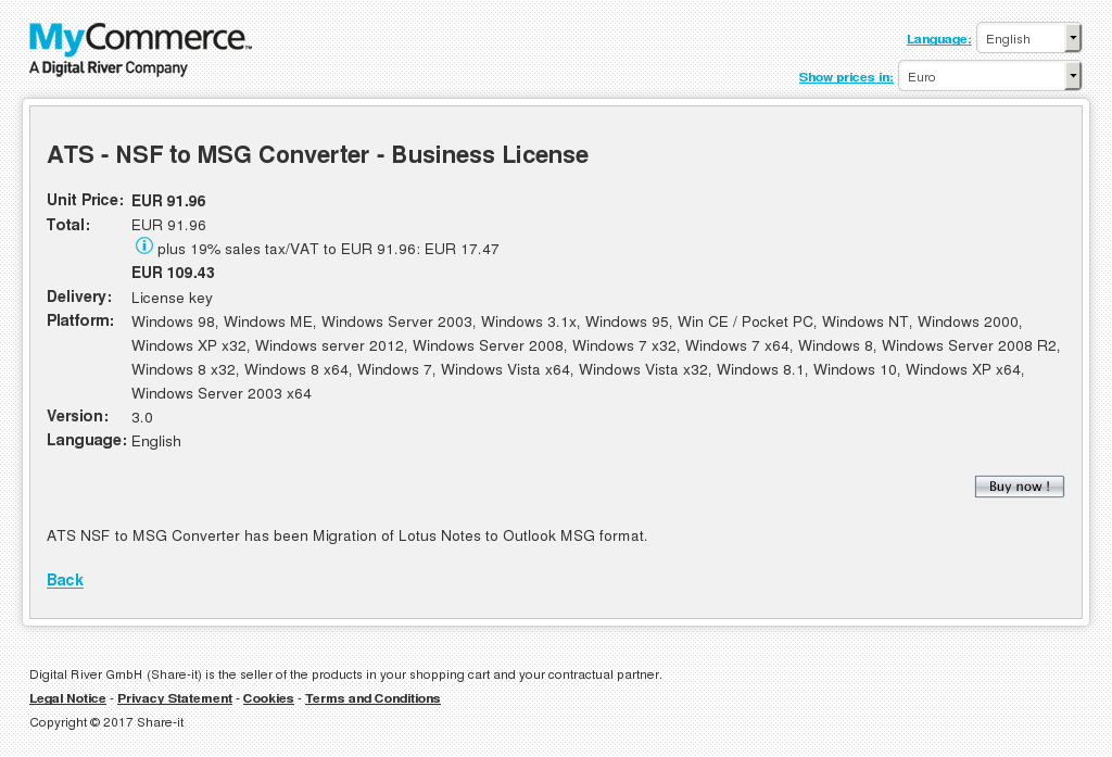 Ats Nsf Msg Converter Business License Features