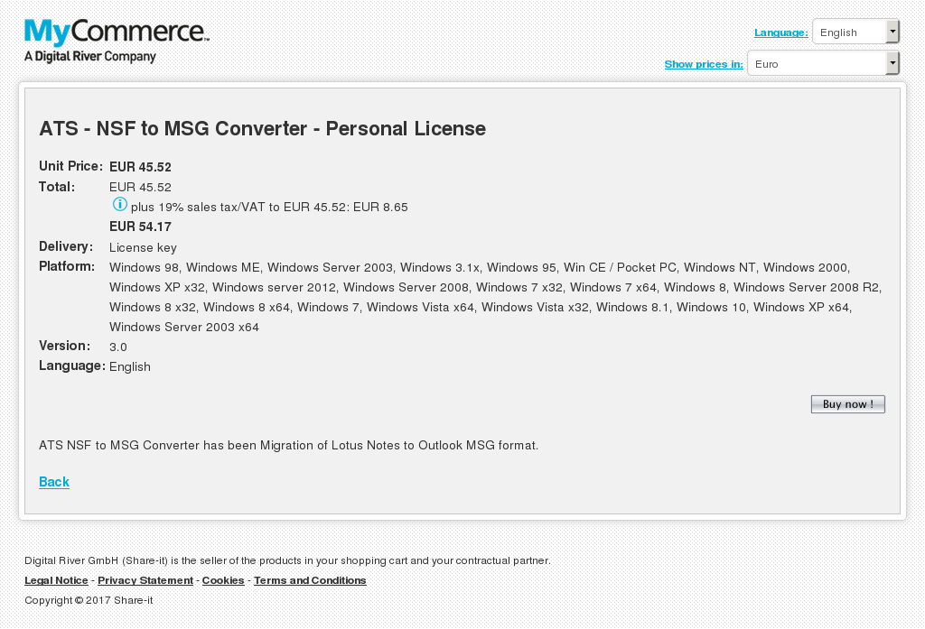Ats Nsf Msg Converter Personal License Key Information