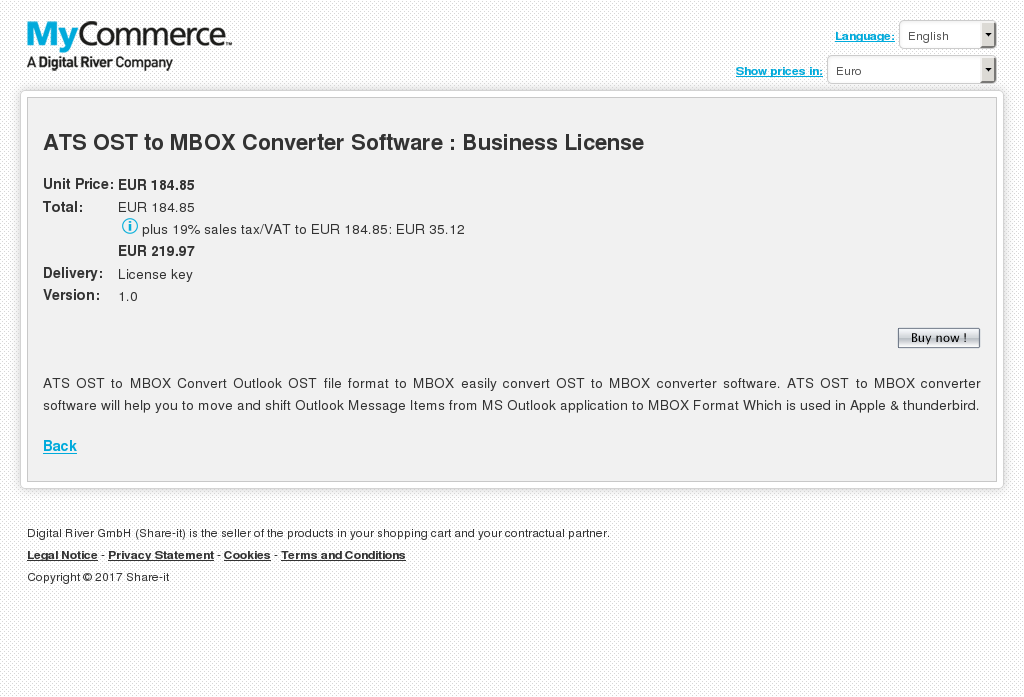 Ats Ost Mbox Converter Software Business License Features