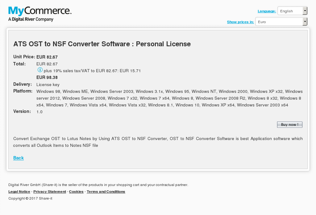 Ats Ost Nsf Converter Software Personal License Key Information