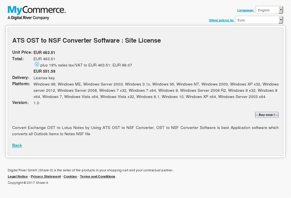 Ats Ost Nsf Converter Software Site License Features