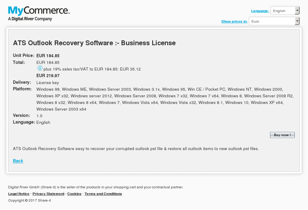 Ats Outlook Recovery Software Business License Howto