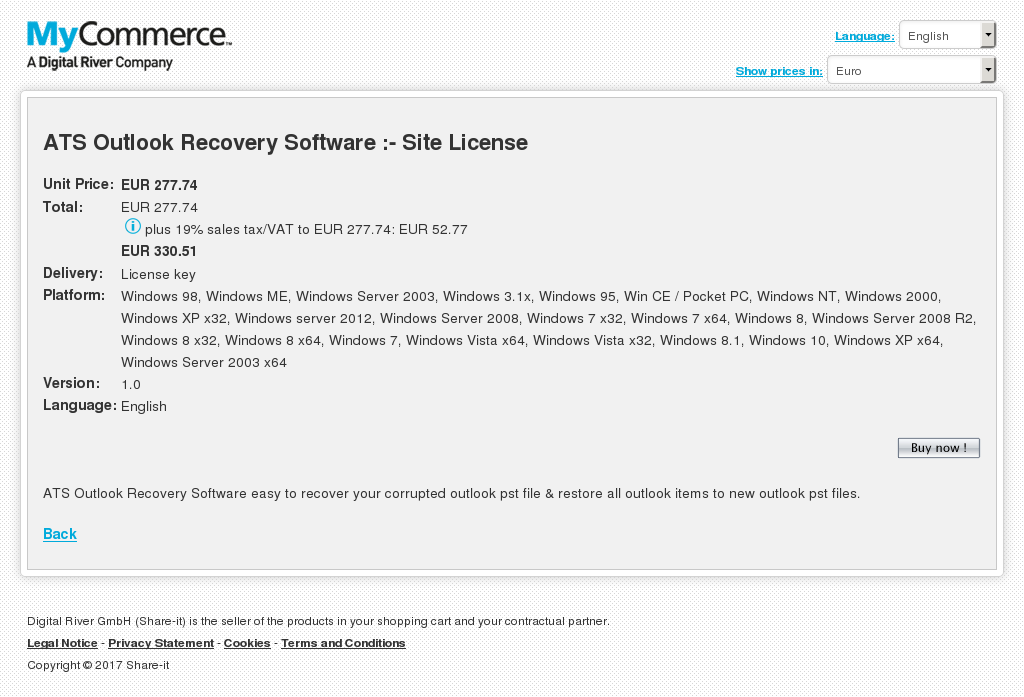 Ats Outlook Recovery Software Site License Free