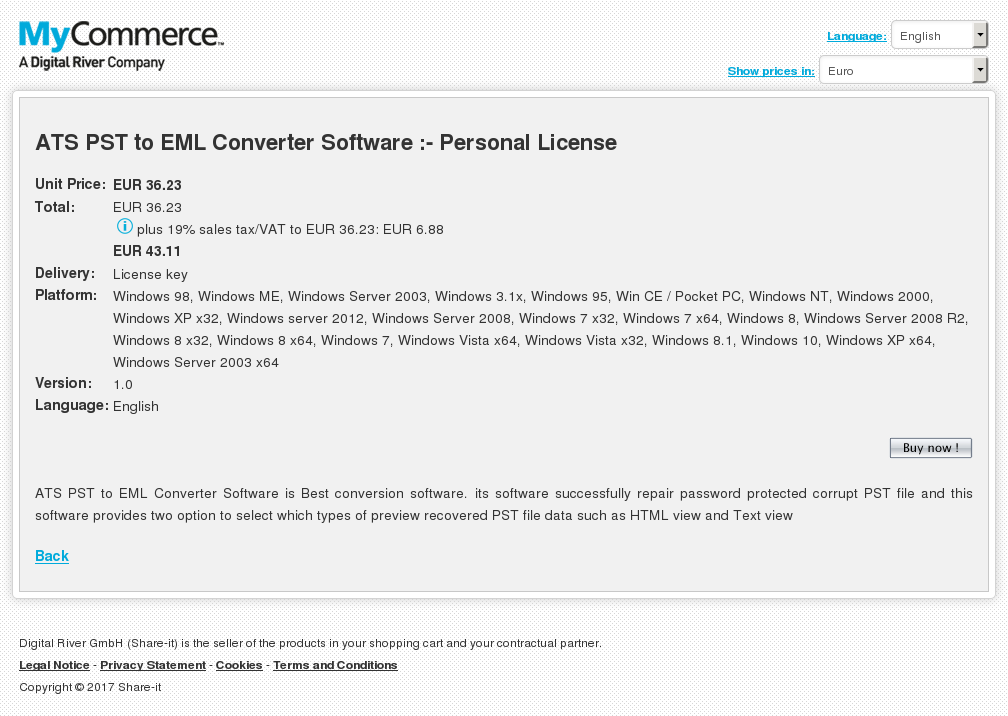 Ats Pst Eml Converter Software Personal License Features