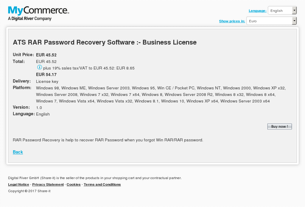 Ats Rar Password Recovery Software Business License Free