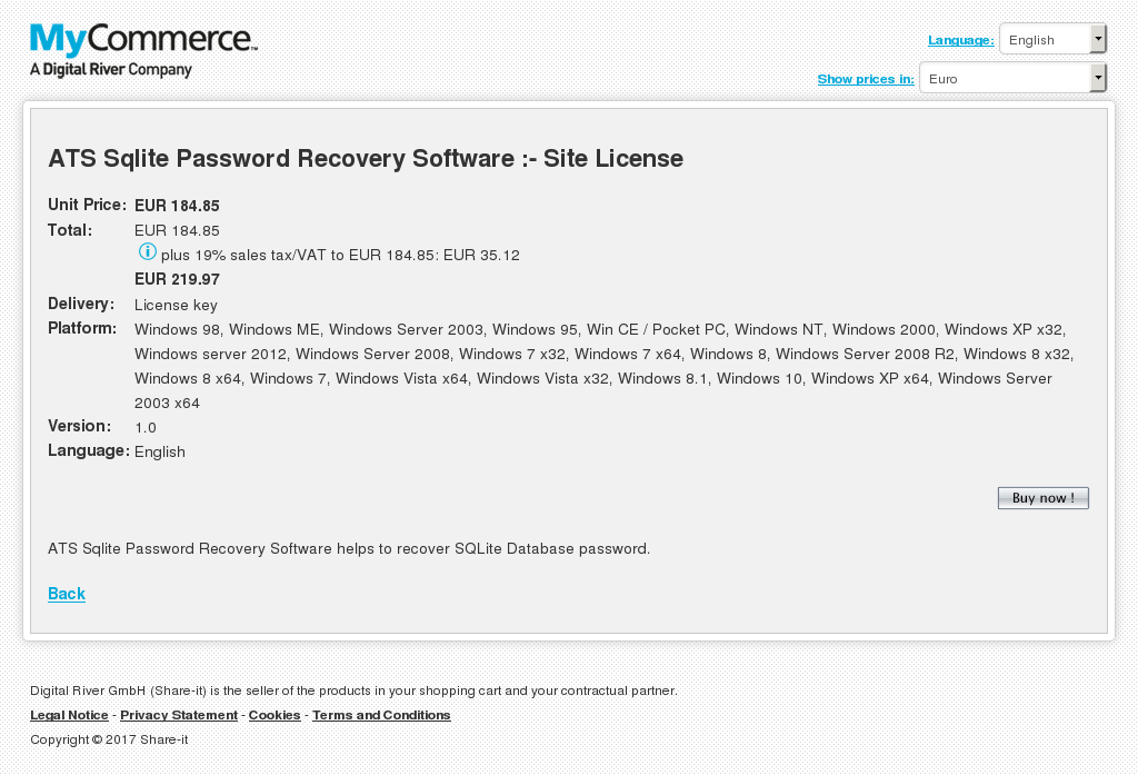 Ats Sqlite Password Recovery Software Site License Alternative