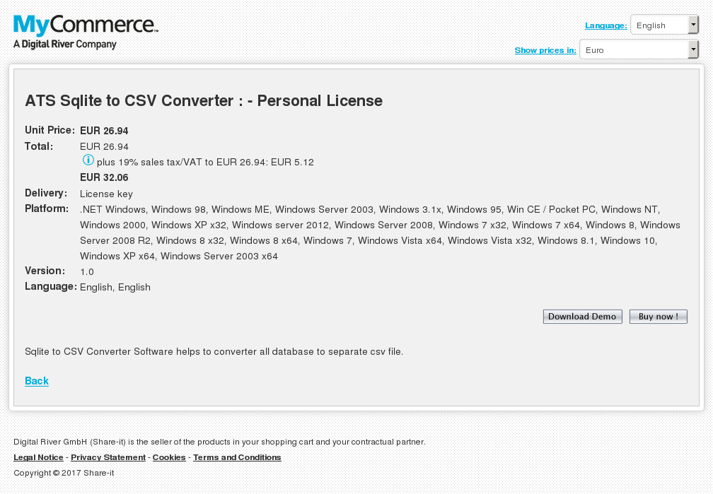 Ats Sqlite Csv Converter Personal License Download