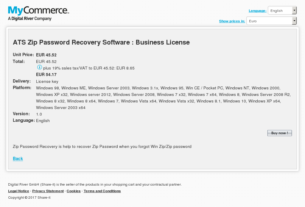 Ats Zip Password Recovery Software Business License Free