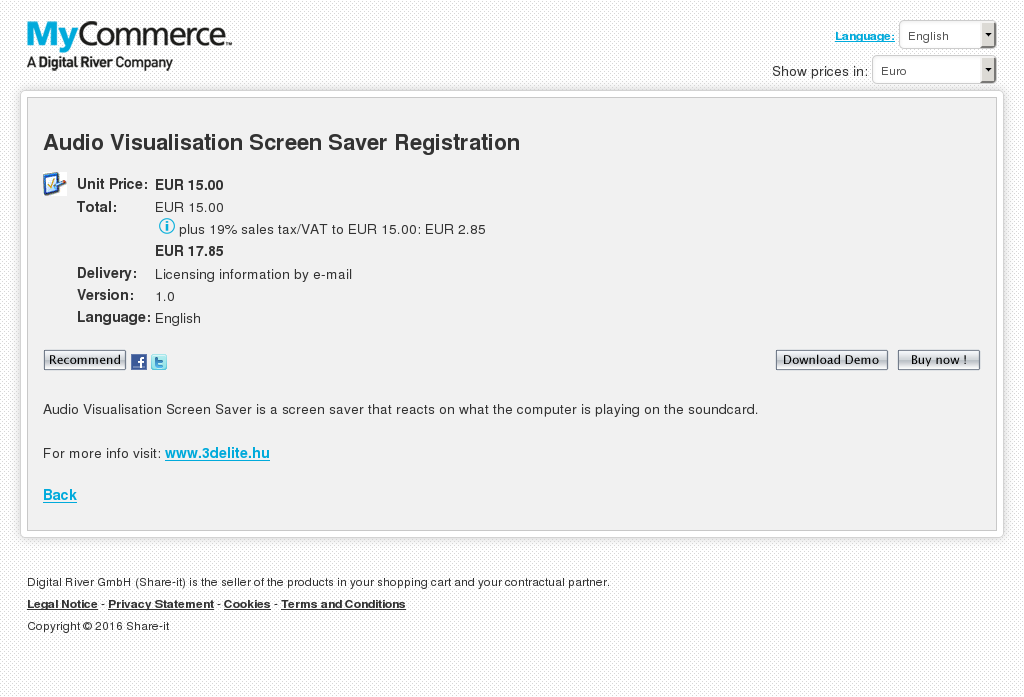 Audio Visualisation Screen Saver Registration Howto