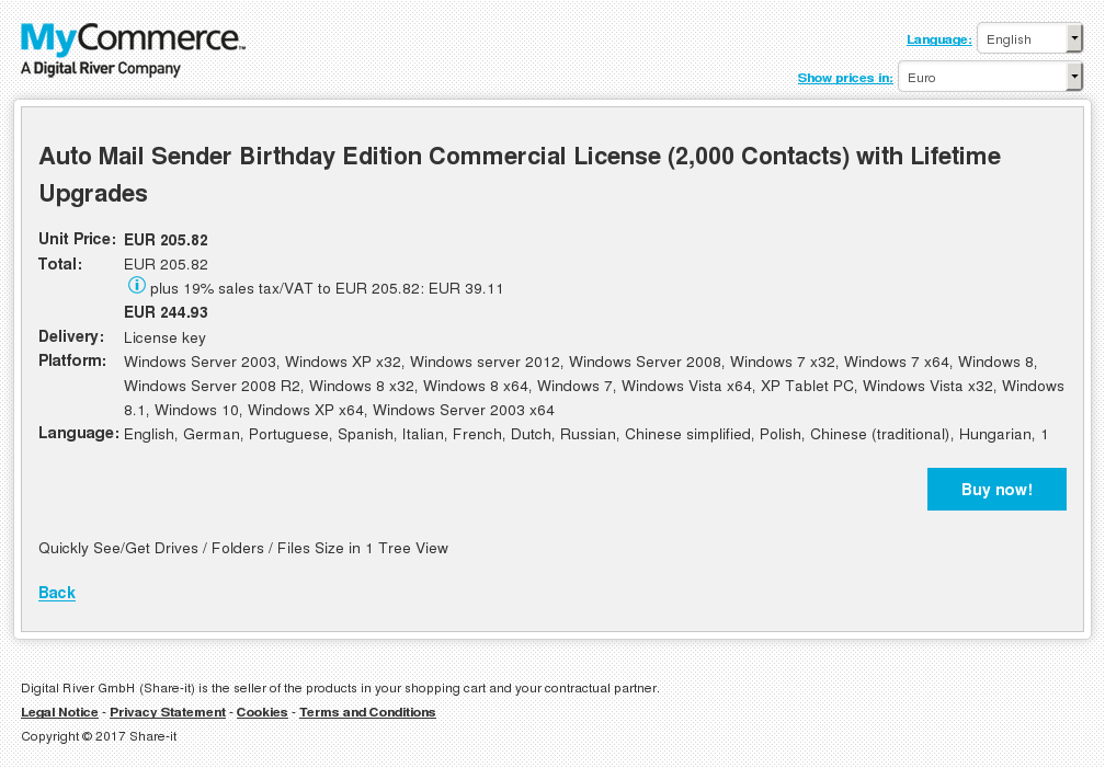 Auto Mail Sender Birthday Edition Commercial License Contacts With Lifetime Upgrades Download