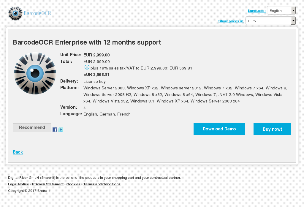 Barcodeocr Enterprise With Months Support Download