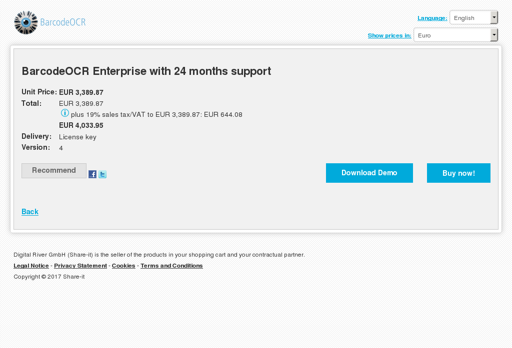 Barcodeocr Enterprise With Months Support Key Information