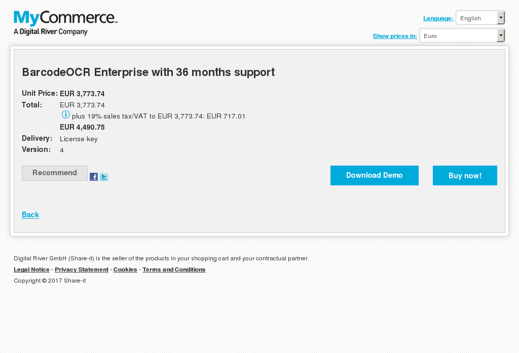 Barcodeocr Enterprise With Months Support Alternative