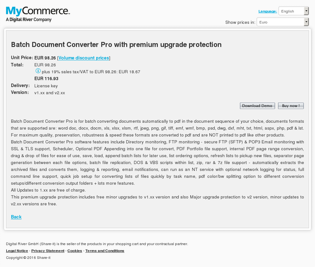 Batch Document Converter Pro With Premium Upgrade Protection Key Information