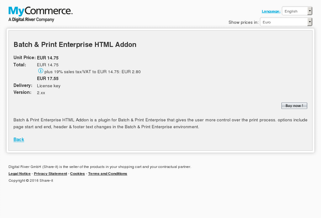 Batch Print Enterprise Html Addon Free