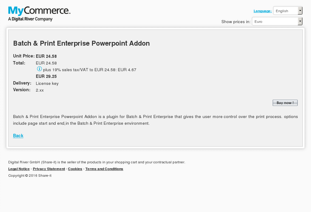 Batch Print Enterprise Powerpoint Addon Features