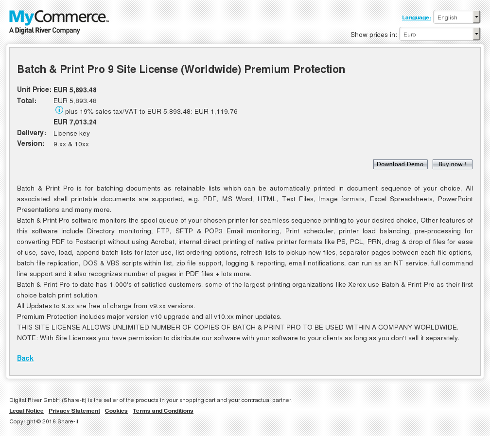 Batch Print Pro Site License Worldwide Premium Protection Howto