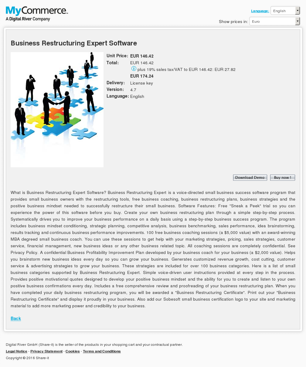 Business Restructuring Expert Software Review