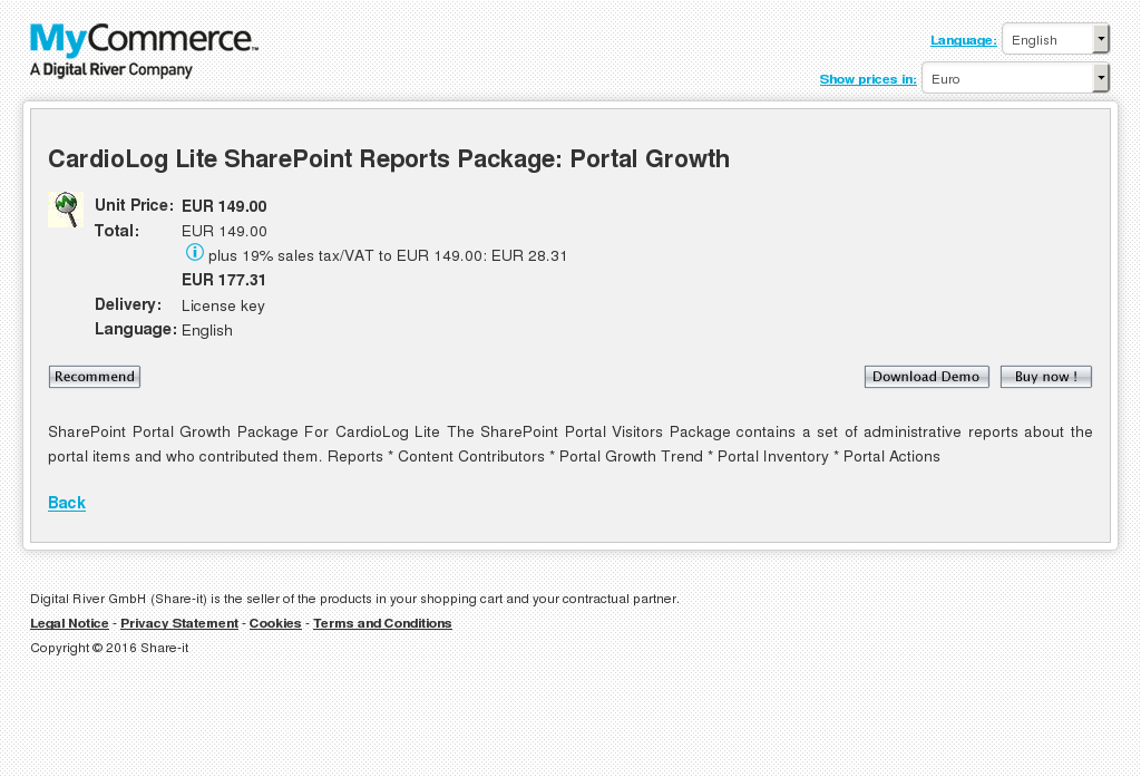Cardiolog Lite Sharepoint Reports Package Portal Growth Key Information
