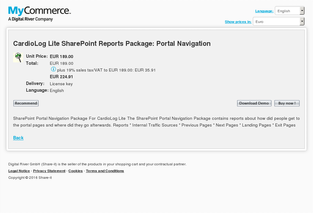 Cardiolog Lite Sharepoint Reports Package Portal Navigation Free