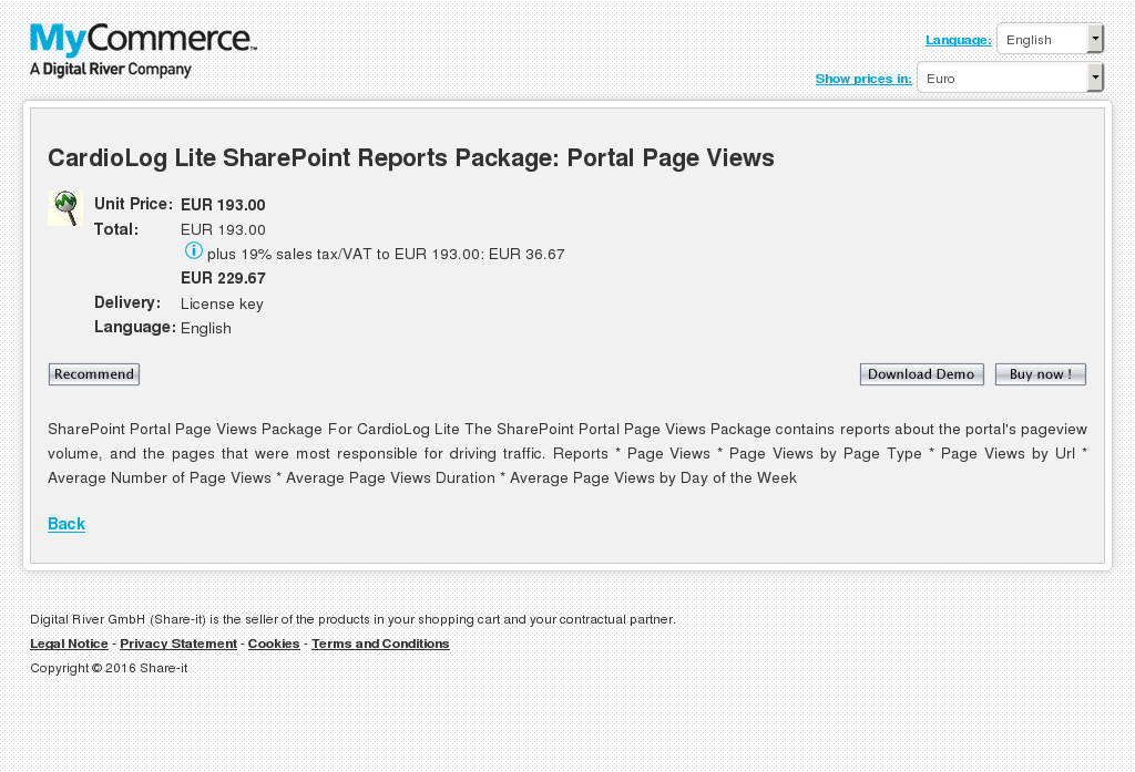 Cardiolog Lite Sharepoint Reports Package Portal Page Views Features