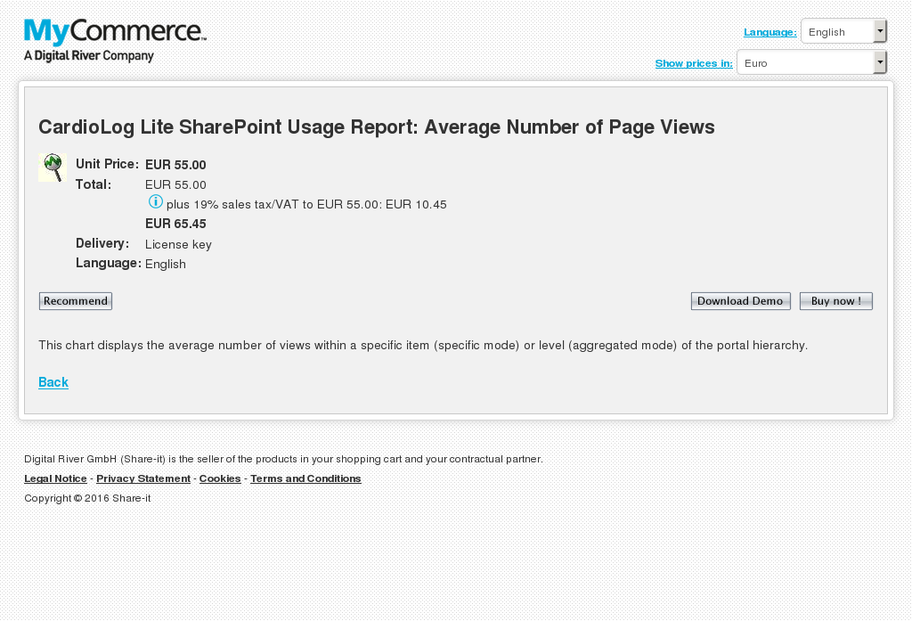 Cardiolog Lite Sharepoint Usage Report Average Number Page Views Key Information