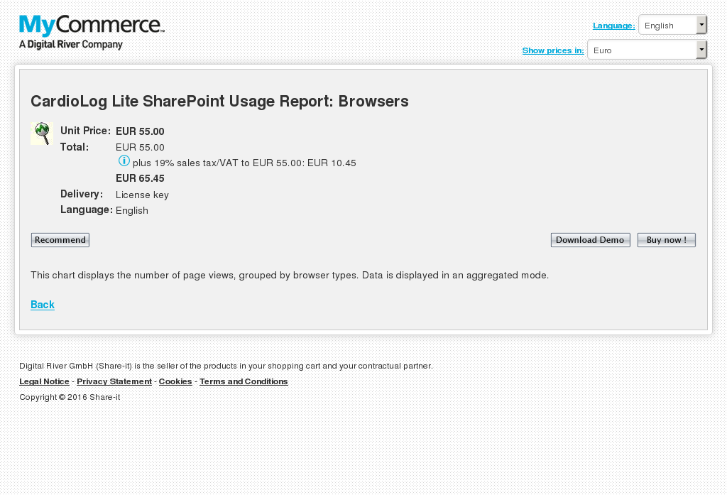 Cardiolog Lite Sharepoint Usage Report Browsers Free