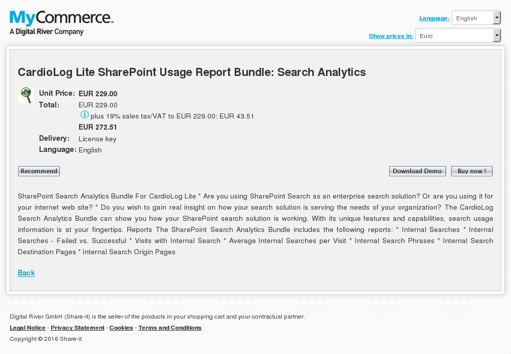 Cardiolog Lite Sharepoint Usage Report Bundle Search Analytics Free