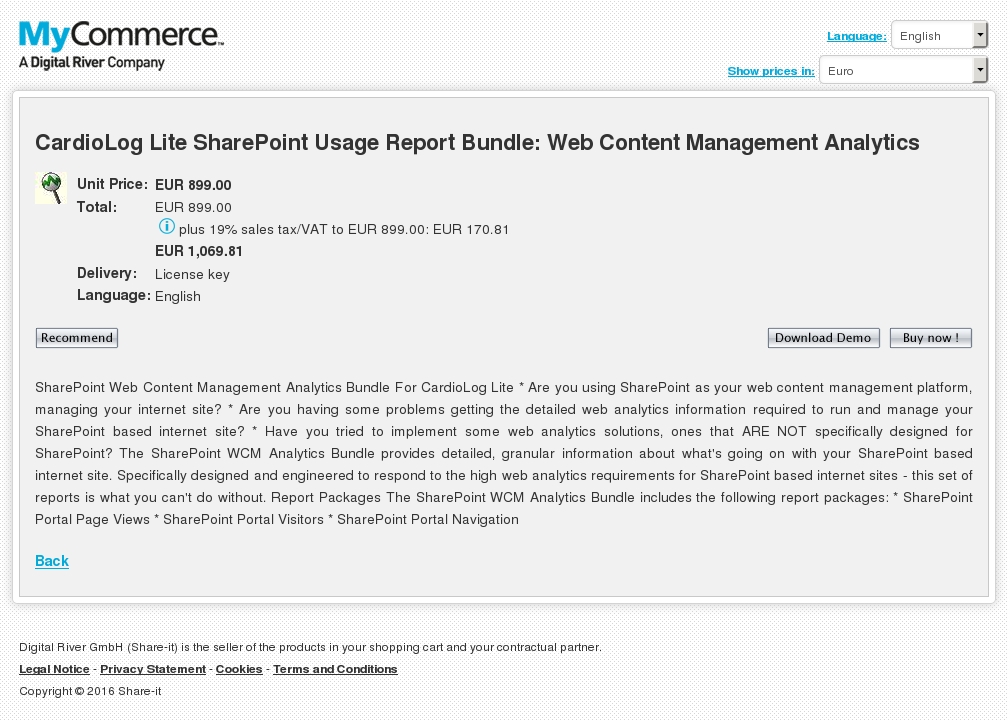Cardiolog Lite Sharepoint Usage Report Bundle Web Content Management Analytics Key Information